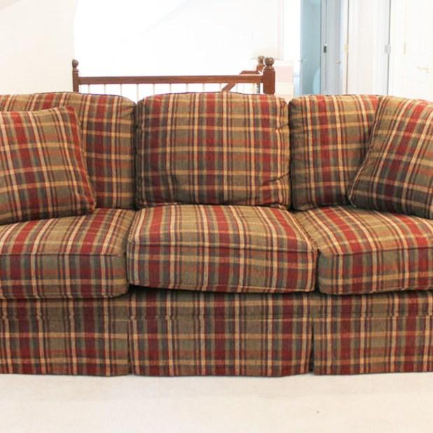 Broyhill Plaid Sofa Www Stkittsvilla Com