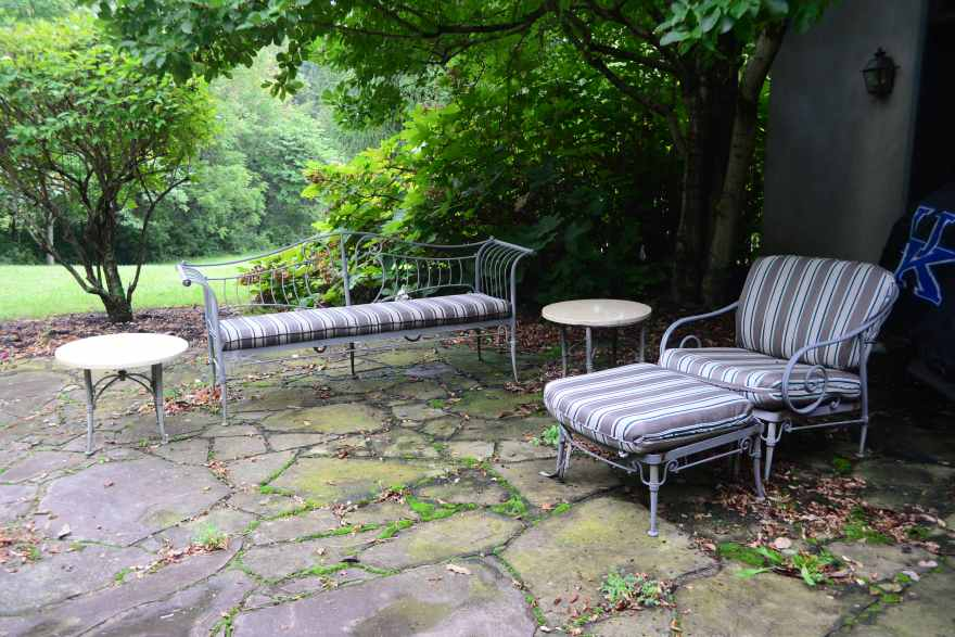 french country outdoor patio furniture Five-Piece French Country Patio Furniture Set : EBTH