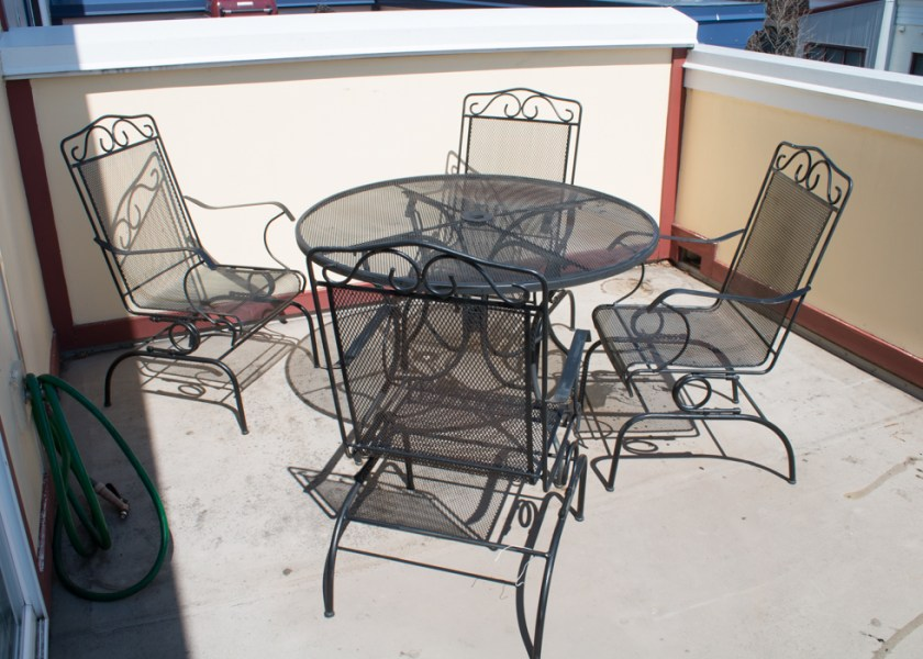 Outdoor Wrought Iron Patio Table and Chairs by Plantation   EBTH Outdoor Wrought Iron Patio Table and Chairs by Plantation