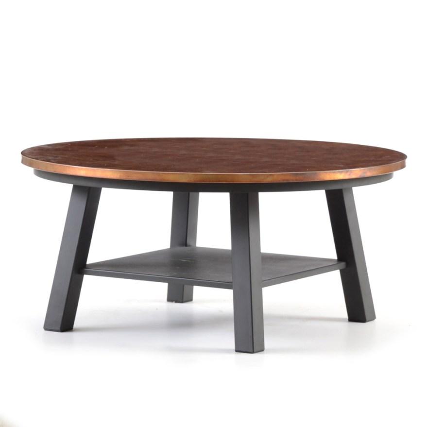 Ethan Allen Sherman Copper Top Coffee Table EBTH