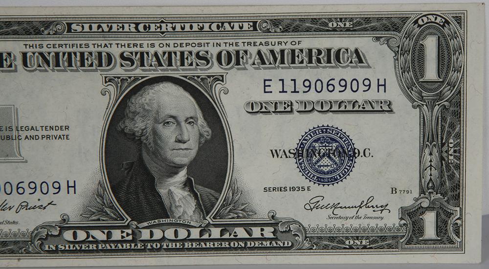 E Silver Certificate 1935 Series