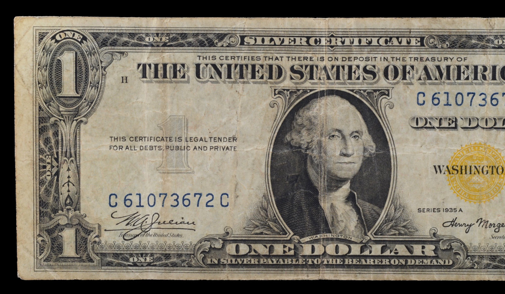 A 1935 Silver Certificate Yellow Seal
