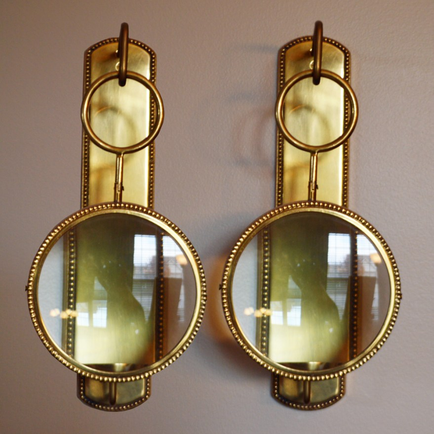 Magnifying Wall Mount Candle Sconces : EBTH on Wall Mounted Candle Sconce id=20440