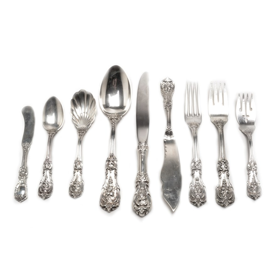 Reed Silver Barton And I Flatware Francis 4 Piece Sterling Setting
