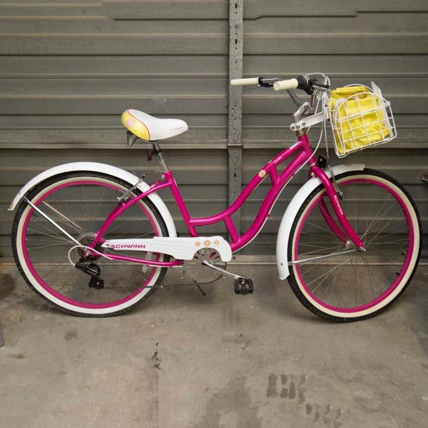 c7080641d34 Schwinn Pink Cruiser Bike With Flowers | Gardening: Flower and ...