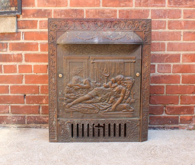 Early S Fireplace Insert With Embossed Summer Cover