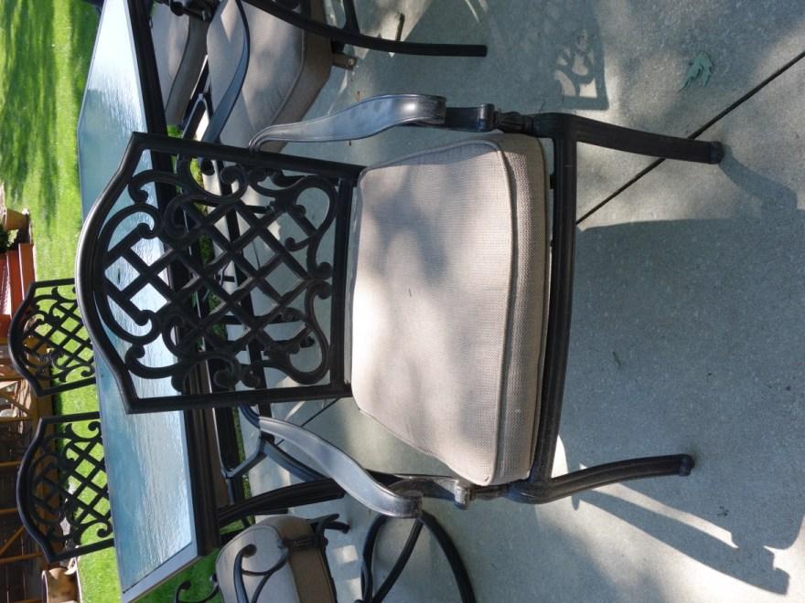 Martha Stewart Living Patio Glass Top Table & Six Chairs ... on Martha Stewart 6 Piece Patio Set id=56759