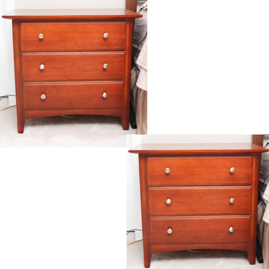 thomasville impressions cherry wood nightstands