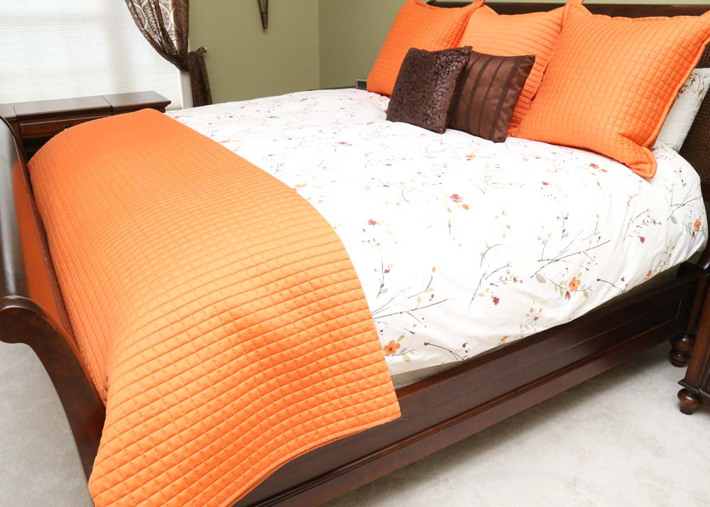 Restoration Hardware Camden King Size Sleigh Bed EBTH