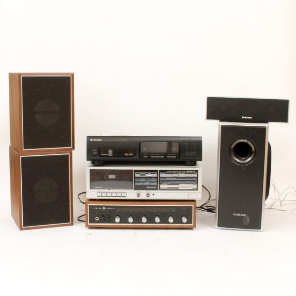 Stereo System Including Pioneer  Sanyo  General Electric  and     Stereo System Including Pioneer  Sanyo  General Electric  and Samsung