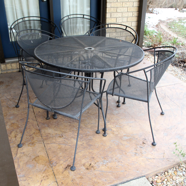 Metal Patio Table And 4 Chairs