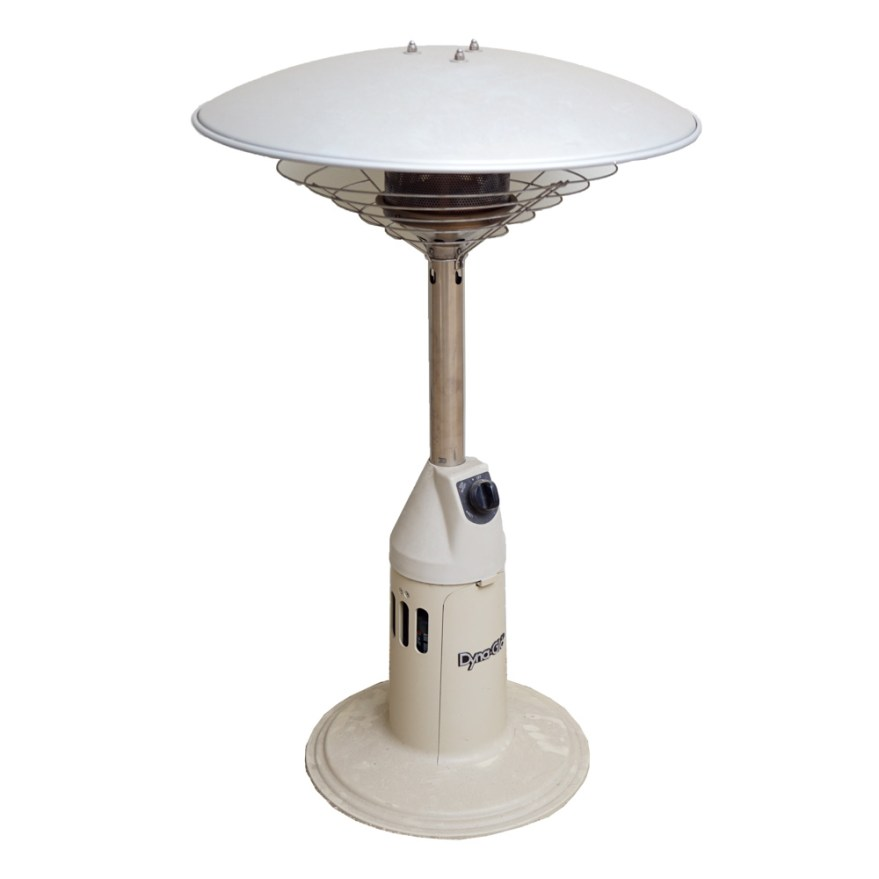 dyna glo gas fired infrared outdoor patio heater with coleman propane tank