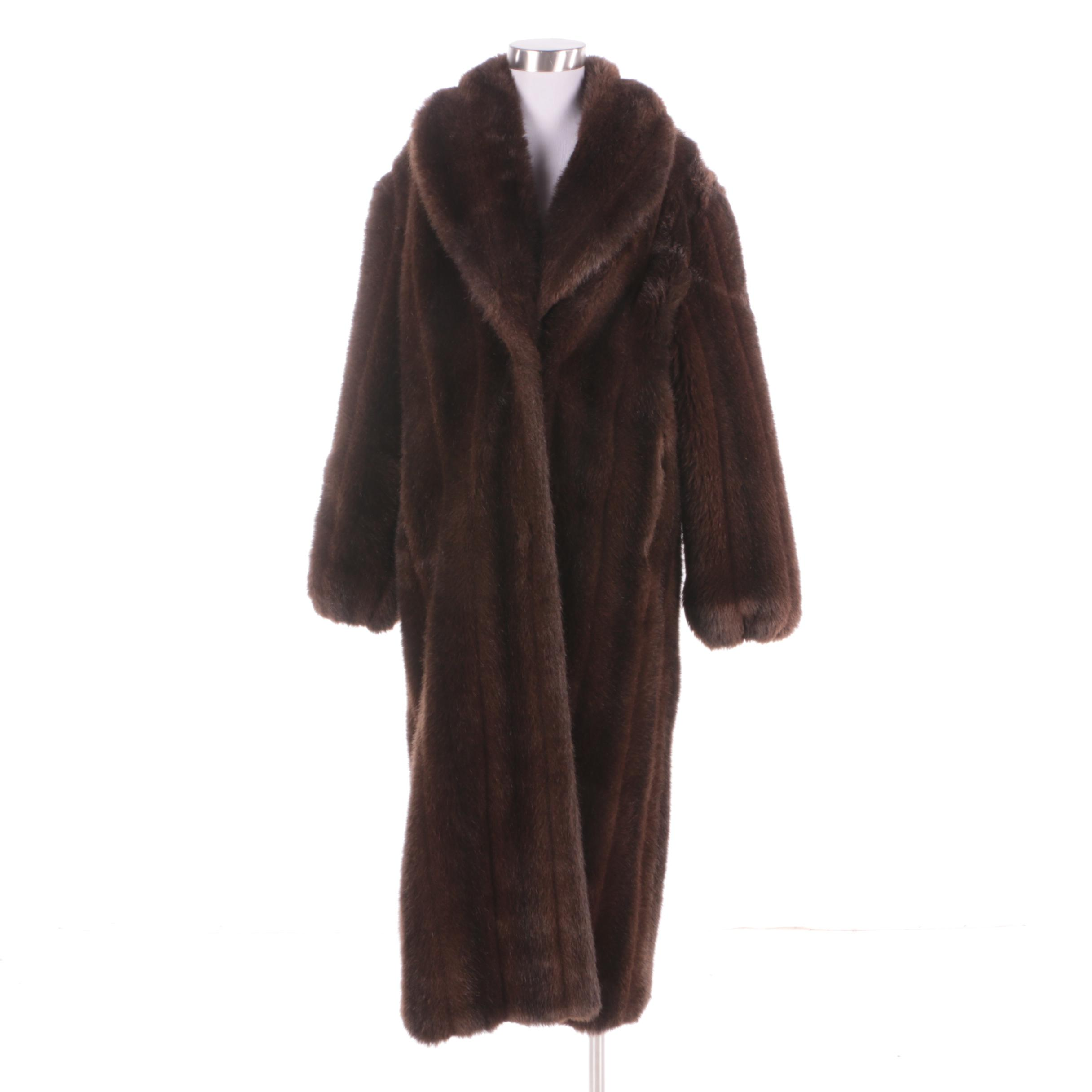 Women s Monterey Fashions Brown Faux Fur Coat   EBTH Women s Monterey Fashions Brown Faux Fur