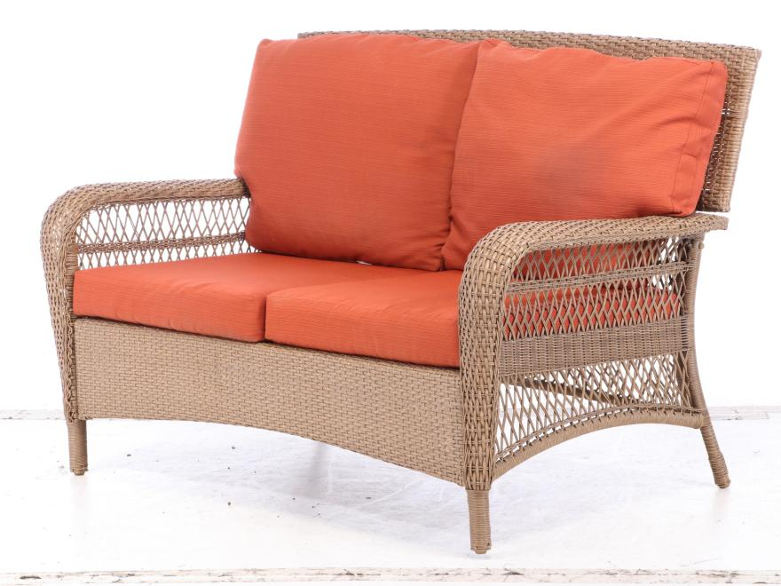 "Martha Stewart Living All-Weather Wicker ""Charlottetown ... on Martha Stewart Wicker Patio Set id=59798"