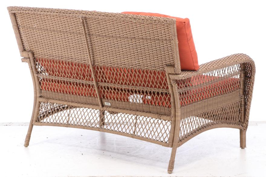 "Martha Stewart Living All-Weather Wicker ""Charlottetown ... on Martha Stewart Wicker Patio Set id=13973"