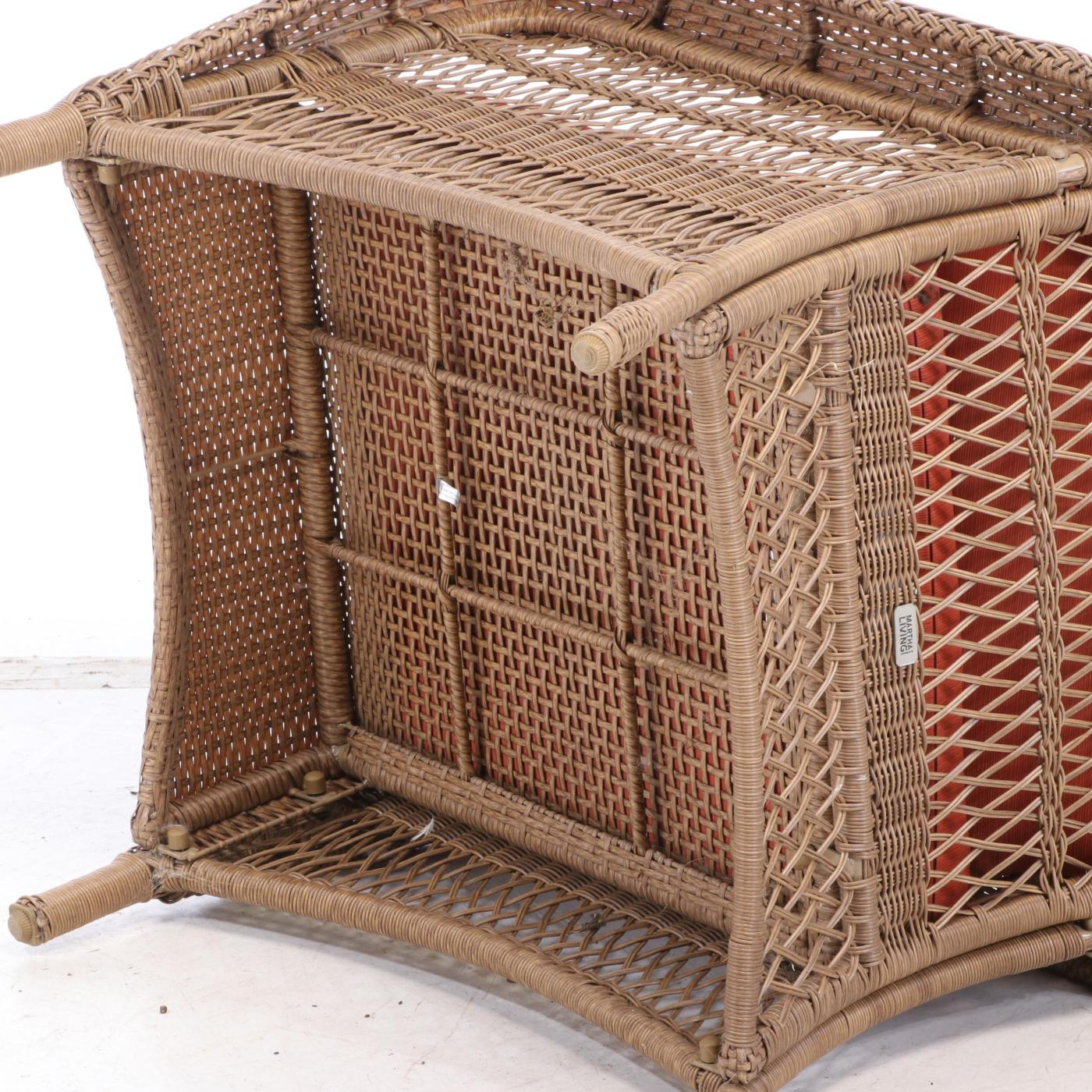"Martha Stewart Living All-Weather Wicker ""Charlottetown ... on Martha Stewart Wicker Patio Set id=16091"
