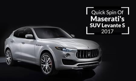 Quick Spin Of Maserati's SUV Levante S 2017