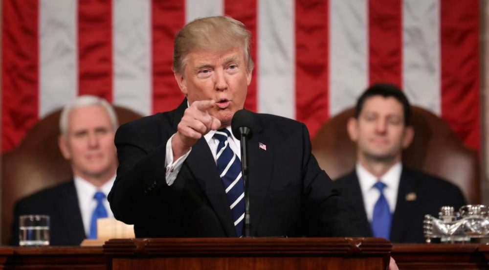 Donald Trump Promotes Immigration Policies In His Speech Of The States Of The Union ebuddynews