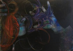 Self-Portrait Through Time and Space acrylic and oil on canvas 174 cm x 124 cm