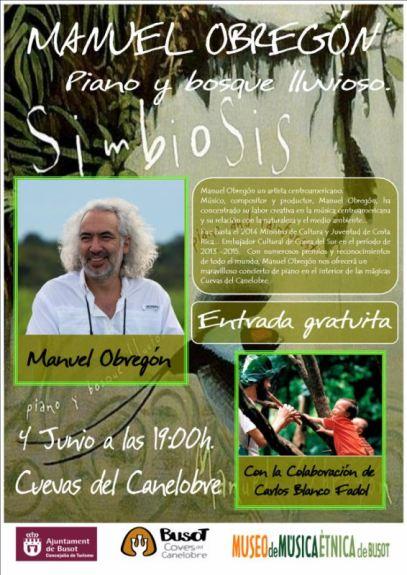 CARTEL CONCIERTO Manuel Obregón un artista centroamericano.