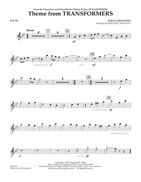 Sheet Music For Flute - flute sheet musictheme from ...