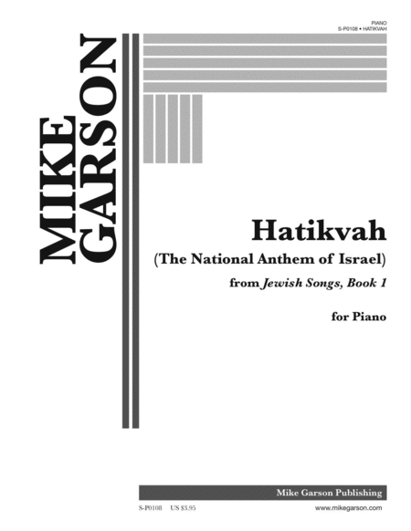 Hatikvah (The National Anthem Of Israel) Sheet Music By ...