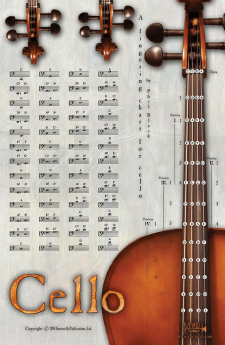 A Fingering Chart For Cello Sheet Music - Sheet Music Plus