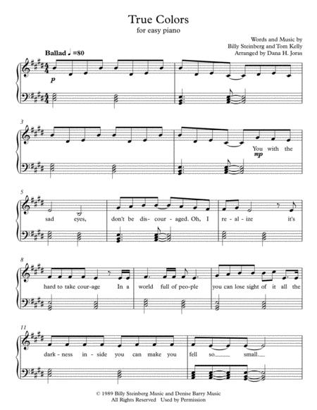 Trolls True Colors Piano Chords
