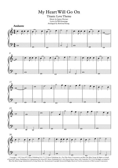 Sheet Will Major C Go Music Heart My