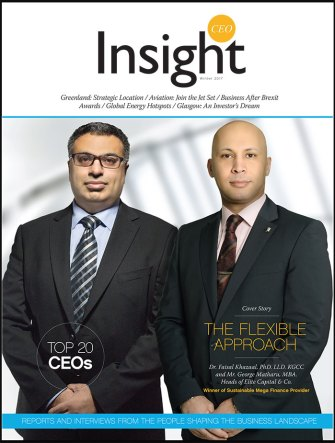 "CEO-Insight Magazine's Cover Story - ""Sustainable Mega Finance Provider 2017 Award"""