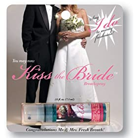 Kiss the bride breath spray