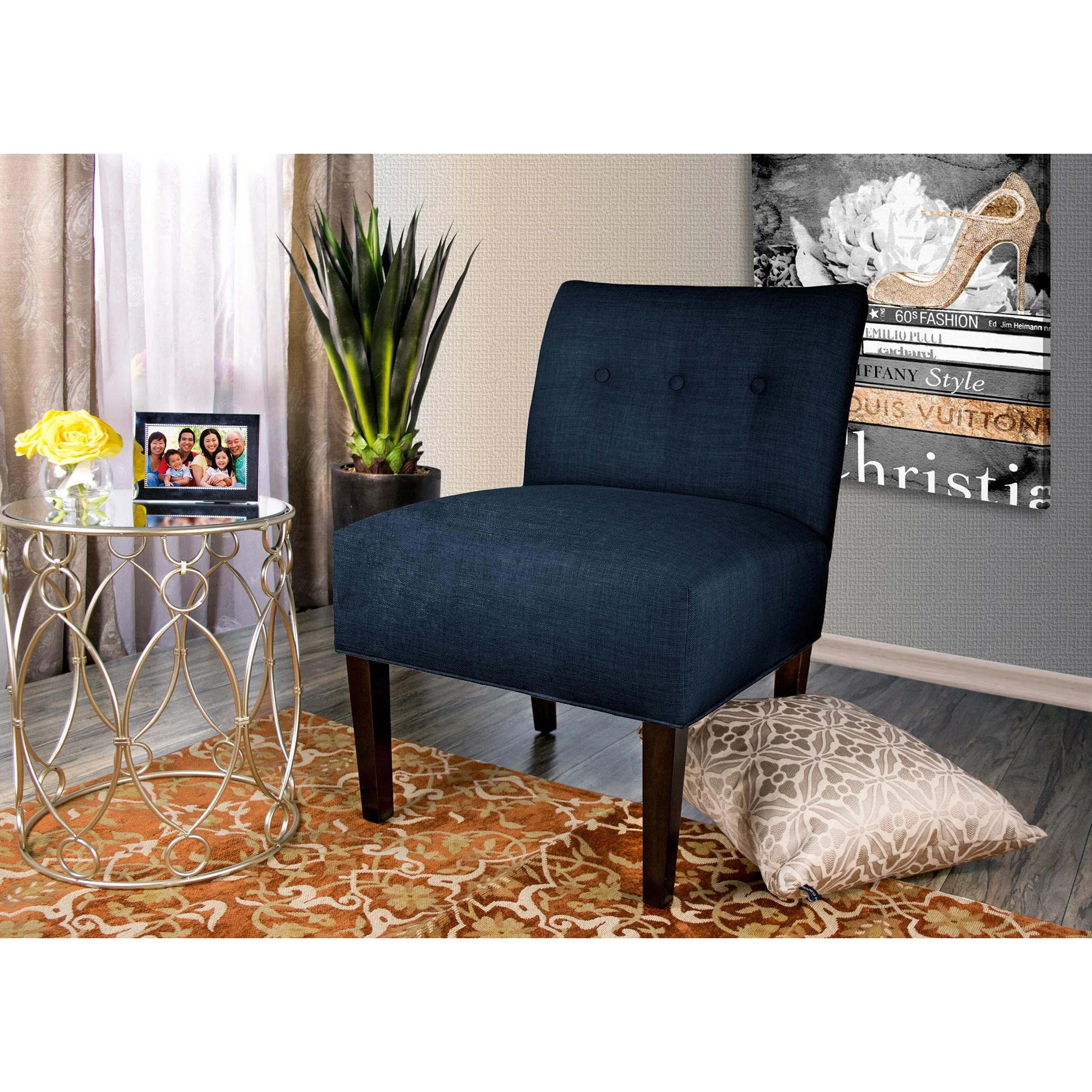 Blue Brown Accent Chair
