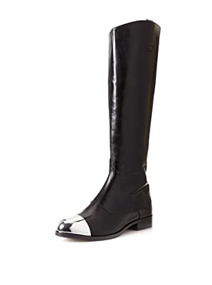Sigerson Morrison Women's Kate Cap Toe Knee Boot (Black)