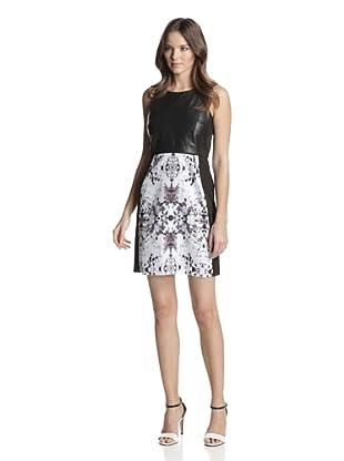 San & Soni Women's Jamie Impression Print Dress (Multi)