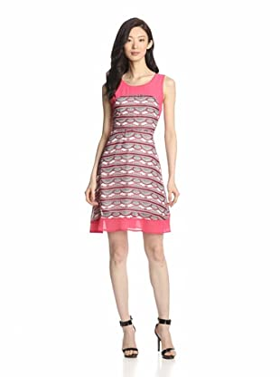 Romeo & Juliet Couture Women's Sleeveless Printed Dress (Coral Combo)