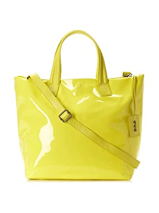 C'N'C CoSTUME NATIONAL Women's Patent Shopper (Lemon)