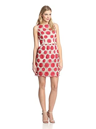 Muse Women's Embroidered Flower Dress (Red)