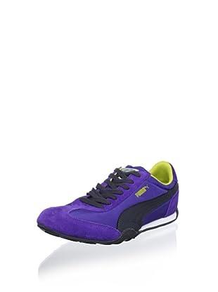 Puma Women's 76 Runner Nylon Sneaker (Blue/Charcoal/Warm Olive)