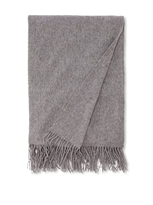 "Sofia Cashmere Fringed Woven Throw, Heather Grey, 56"" x 66"""