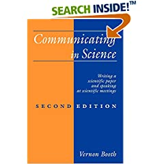 Vernon Booth: Communicating in Science