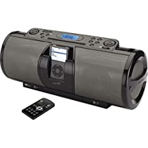 iLive IBCD3816DT Portable 2.1-Channel CD Boombox with iPod Docking Station (Black)