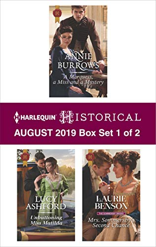 Harlequin Historical August 2019 - Box Set 1 of 2 Annie Burrows, Lucy Ashford, Laurie Benson