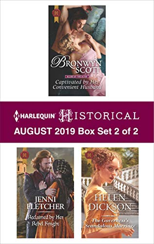 Harlequin Historical August 2019 - Box Set 2 of 2  Bronwyn Scott, Jenni Fletcher, Helen Dickson