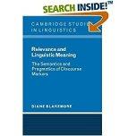 The Semantics and Pragmatics of Discourse Markers (Cambridge Studies in Linguistics)