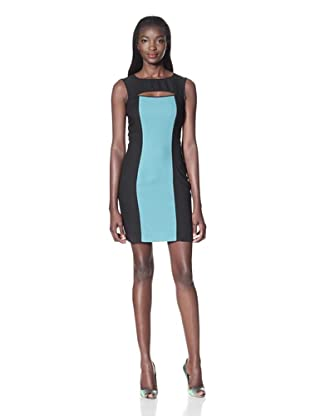 Marc New York Women's Sleeve Less Cut Out Neck Shift (Sage)