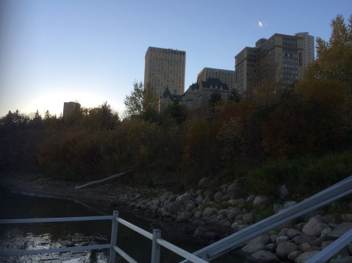 """1. Grierson Hill below the Hotel Macdonald was Edmonton's first dump, politely known as a """"Nuisance Ground."""" Photo by author"""