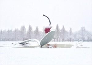 Spoon and Cherry in Winter - Lisa Drew Photos Minneapolis