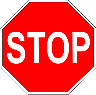 Title: How do i say this. An image of a stop sign to symbolize roadblocks and adversity.