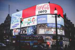This picture of Picadilly Circus in London shows a few of the advertising messages we are bombarded by each day.