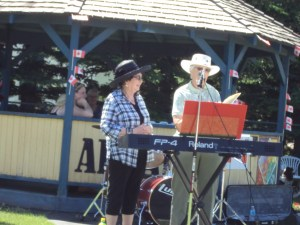 Judi Solonick was inducted into the Alliance Wall of Fame on July 1 at the old band shell by the museum for her work as a volunteer.